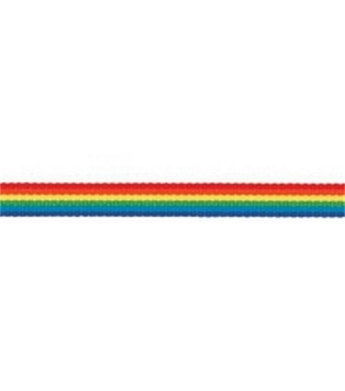 Offray Rainbow Stripe Ribbon 3/8\u0022-10Yds-Dark