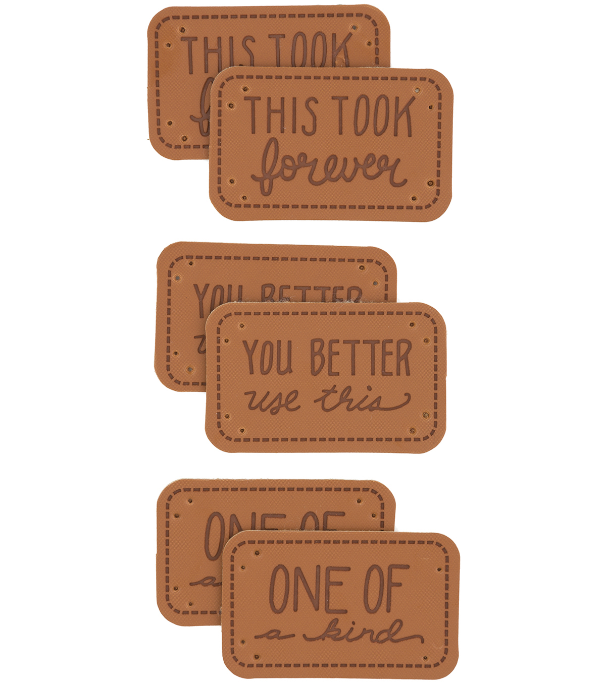 Boye® 6 Pack Faux Leather Project Labels