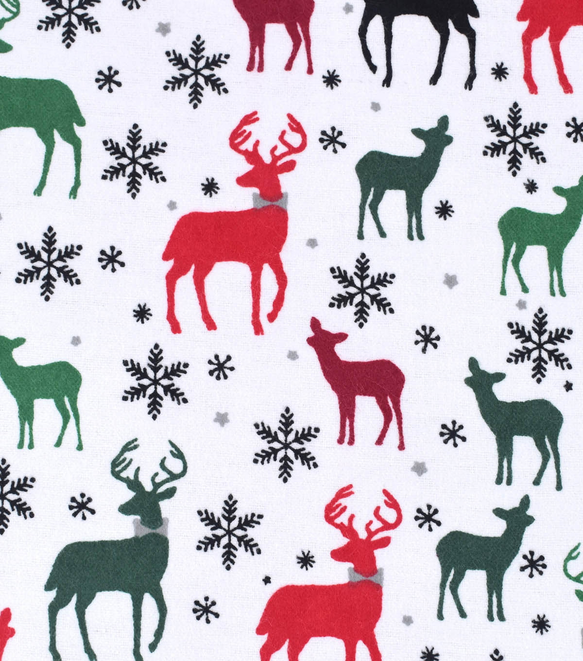 Snuggle Flannel Fabric 42\u0022-Multi Deer With Bow Tie