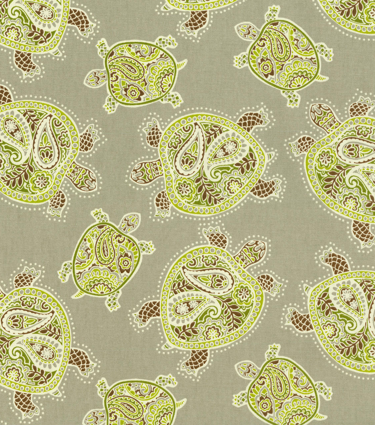 Home Decor 8\u0022x8\u0022 Fabric Swatch-Tommy Bahama Tranquil Turtles Fossil