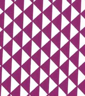 "Quilter's Showcase™ Cotton Fabric 44""-Triangles Purple/White"