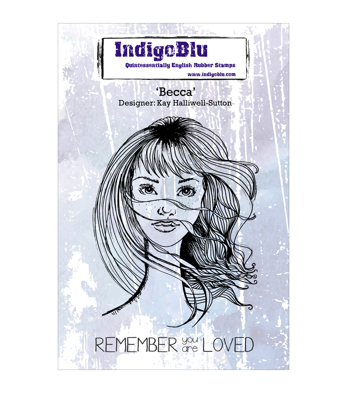 Indigoblu Becca Cling Mounted Stamp