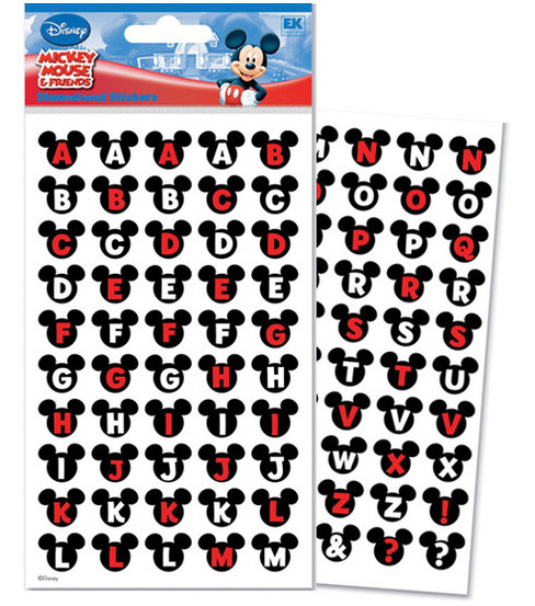 Disney Dimensional Alphabet Stickers-Mickey Ears