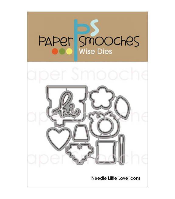 Paper Smooches Wise Die-Needle Little Love Icons