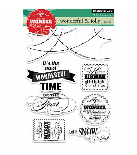 Penny Black Wonderful & Jolly Clear Stamps