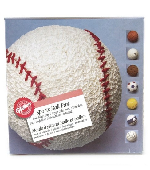Wilton® Sports Ball 3D Stand Up Cake Pan Set