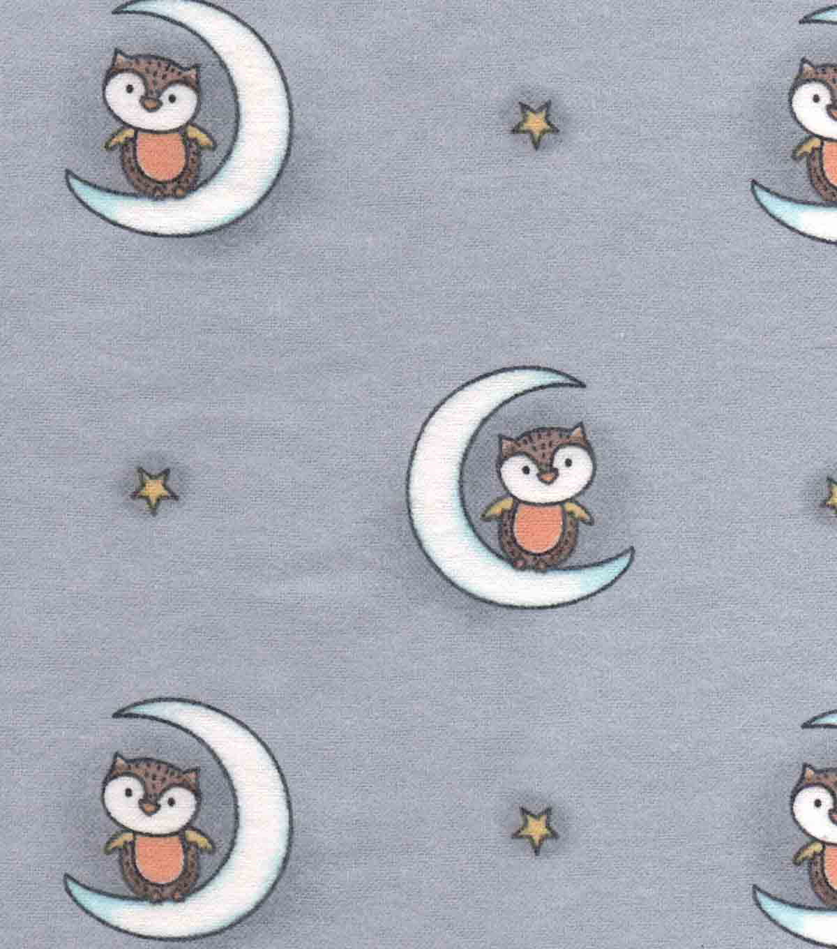Nursery Flannel Fabric 42\u0022-Woodland Owls