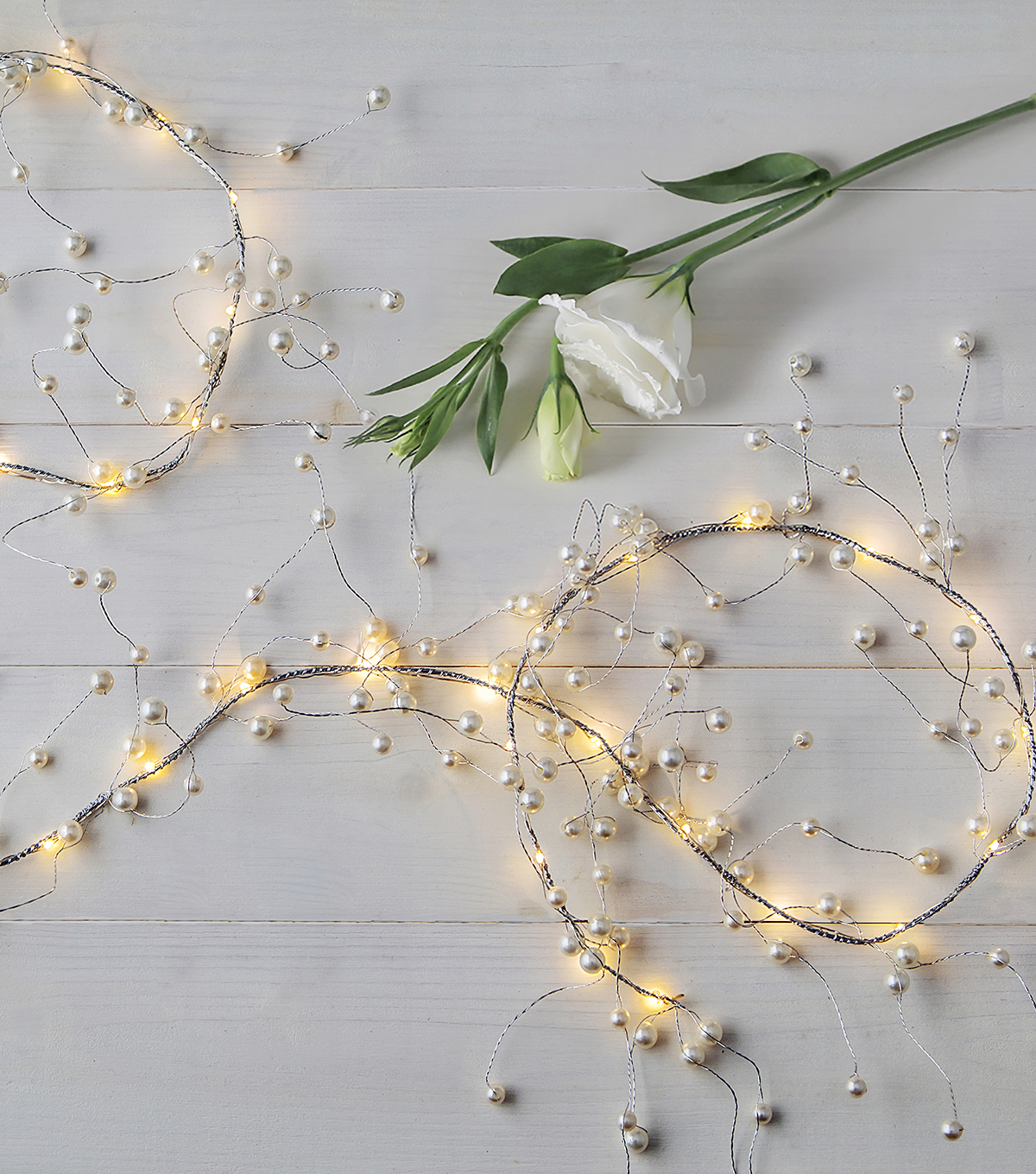 Save The Date™ Lighted Garland With Pearl Beads