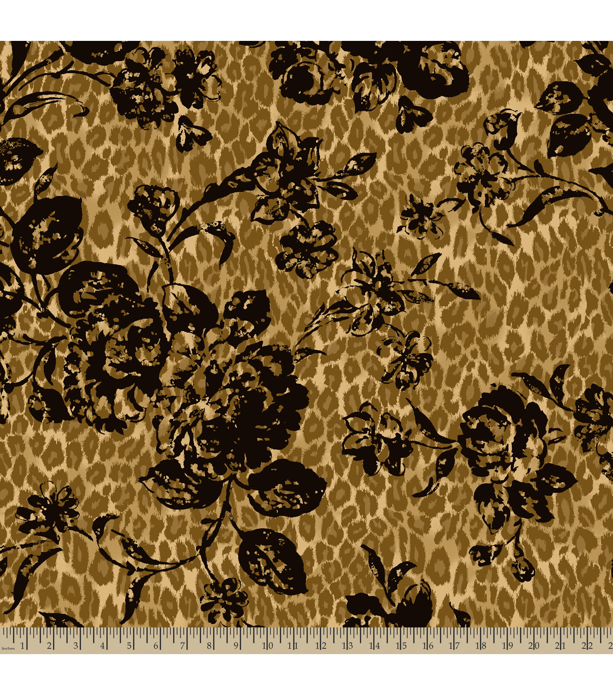 Anti-Pill Fleece Fabric Floral Leopard