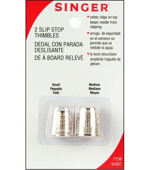 Metal Slip Stop Thimbles-2/Pkg 1 Small & 1 Medium