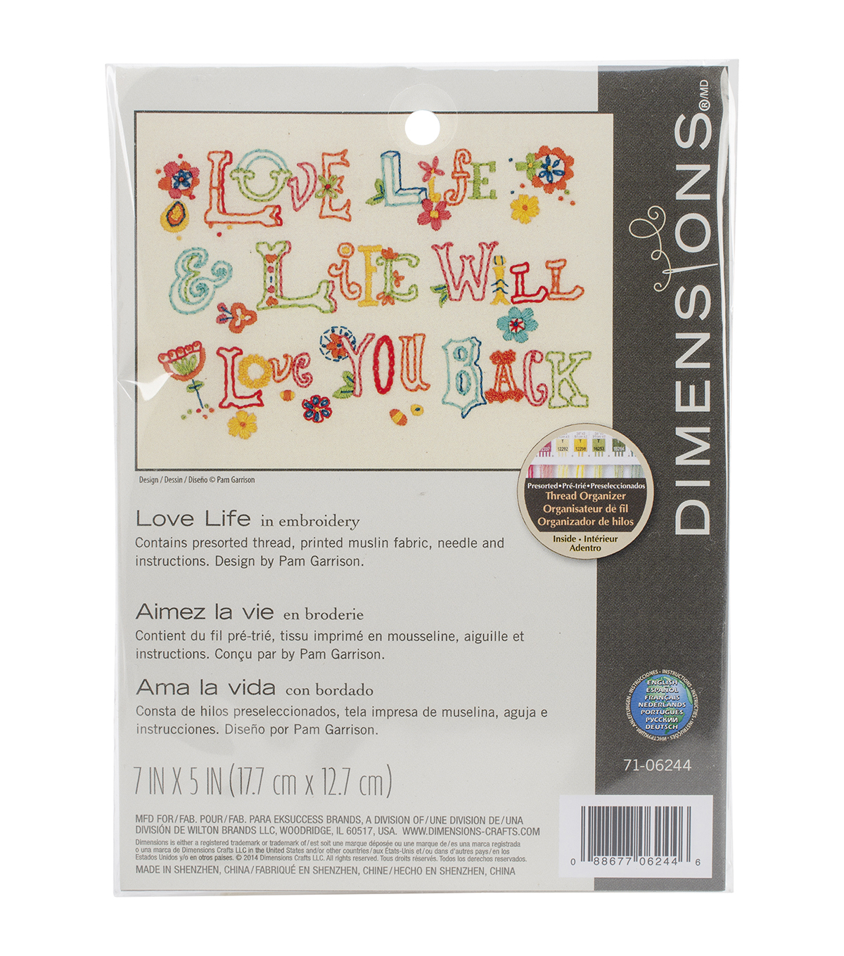 Dimensions Love Life Mini Embroidery Kit