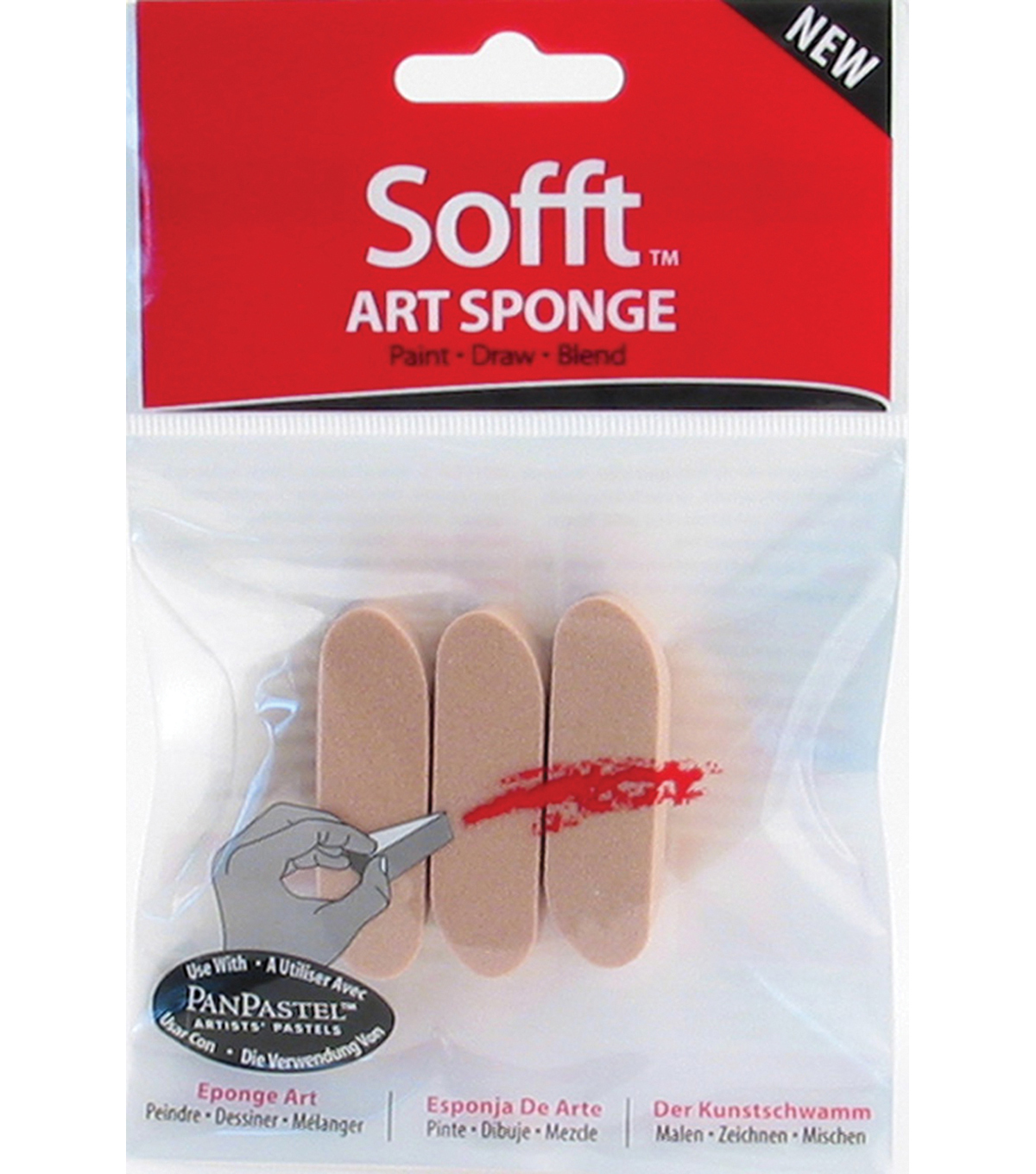 Colorfin Sofft Sponge Bars-3PK/Round