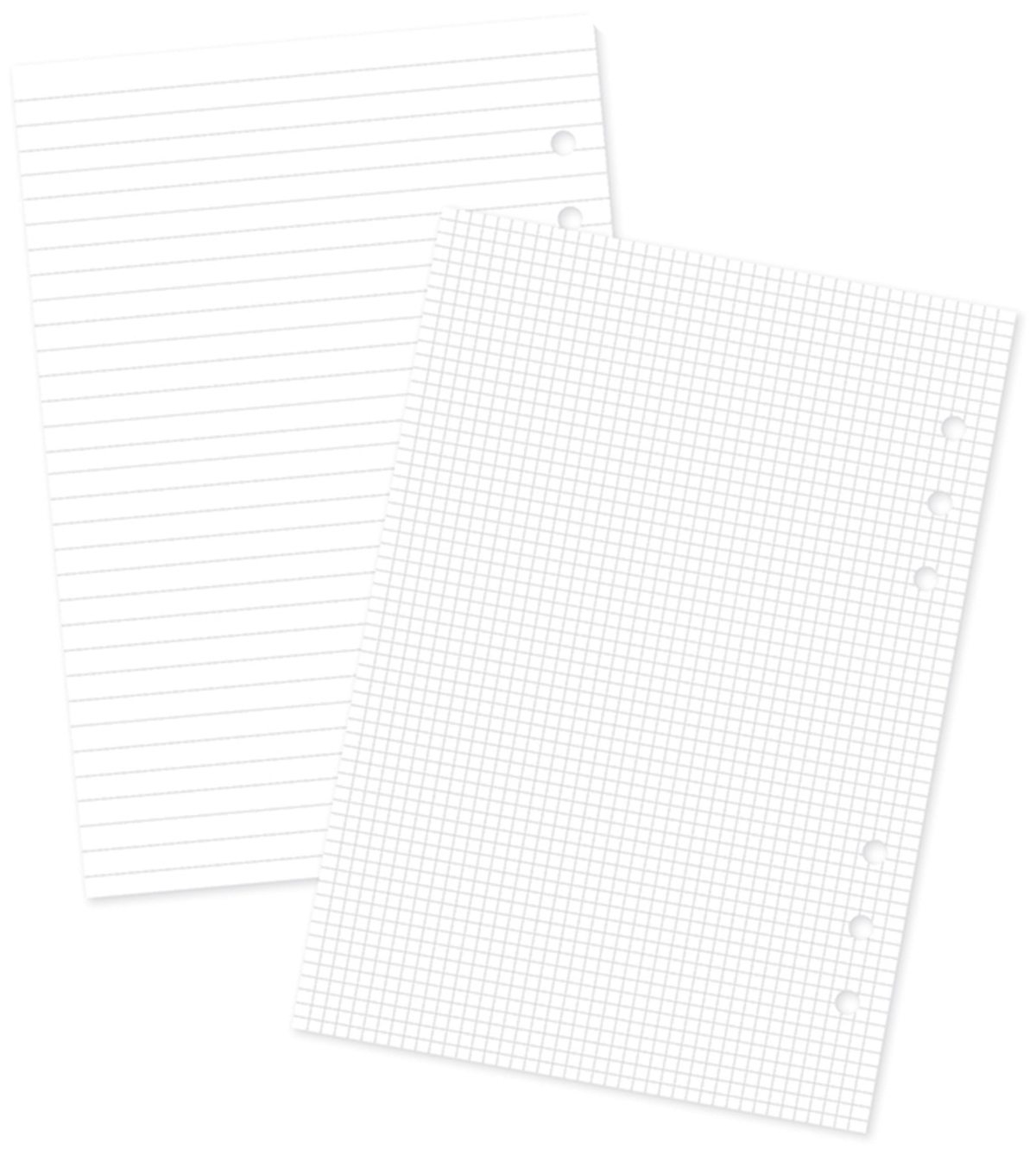 Planner Essentials Double-Sided A5 Inserts-Basic, 2 Designs/18ea