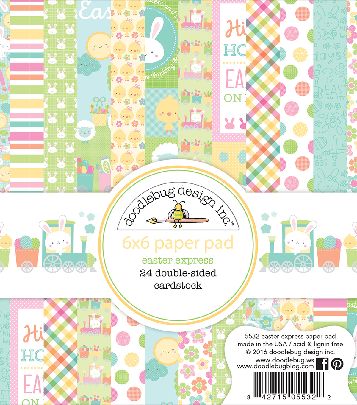 Doodlebug Double-Sided Paper Pad 6\u0022X6\u0022-Easter Express