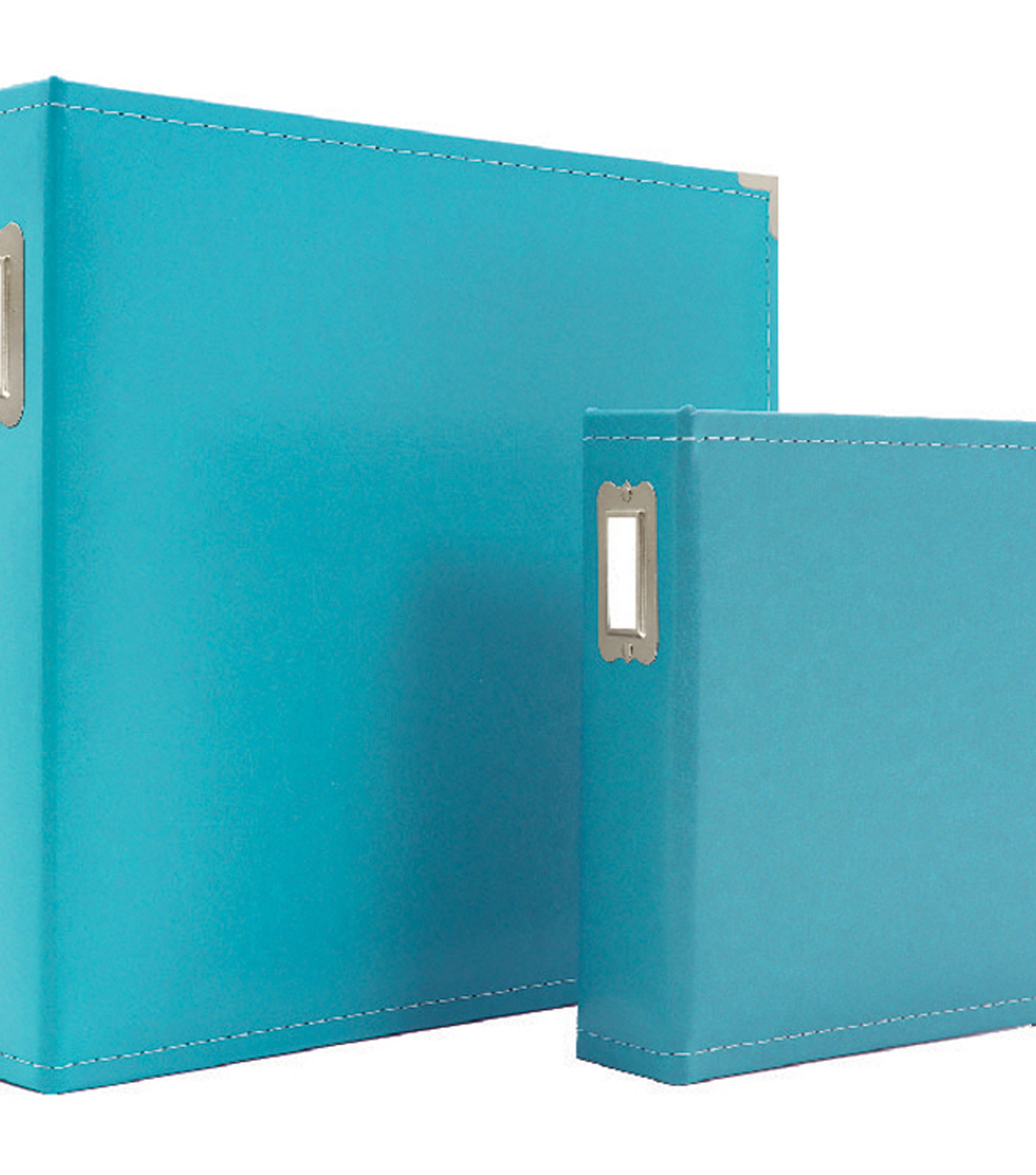Sn@p! Leather Binder 6\u0022X8\u0022-Teal