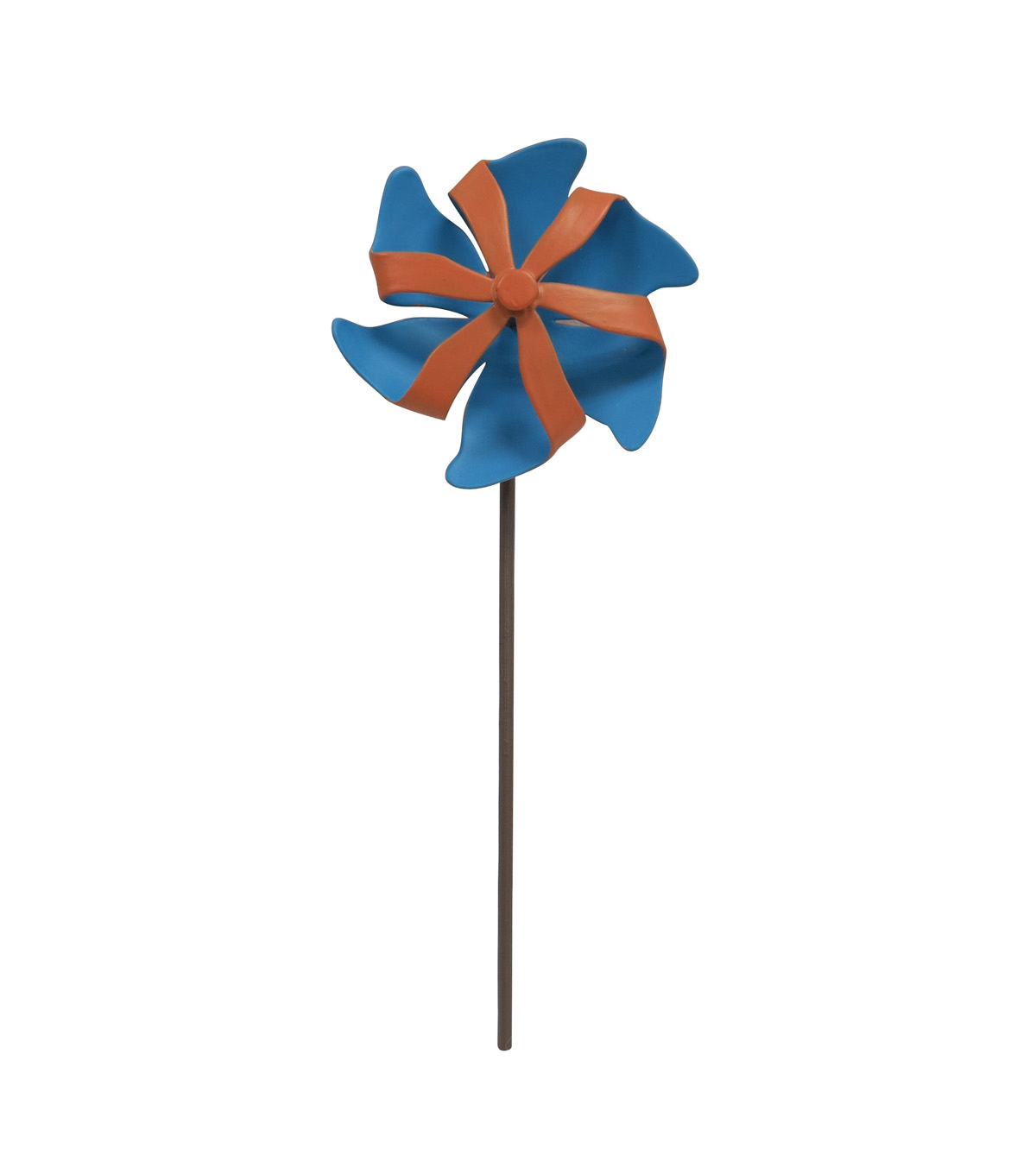Fairy Garden Metal Pinwheel-Blue & Orange