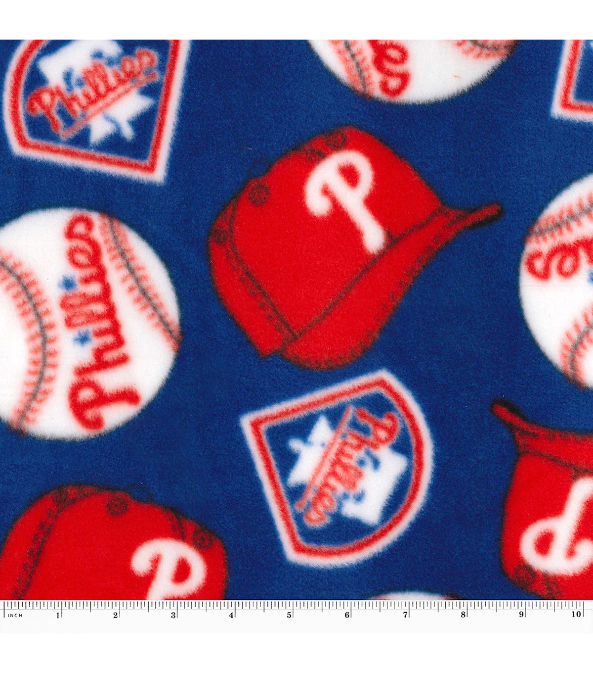 "Philadelphia Phillies Fleece Fabric 58""-Tossed"
