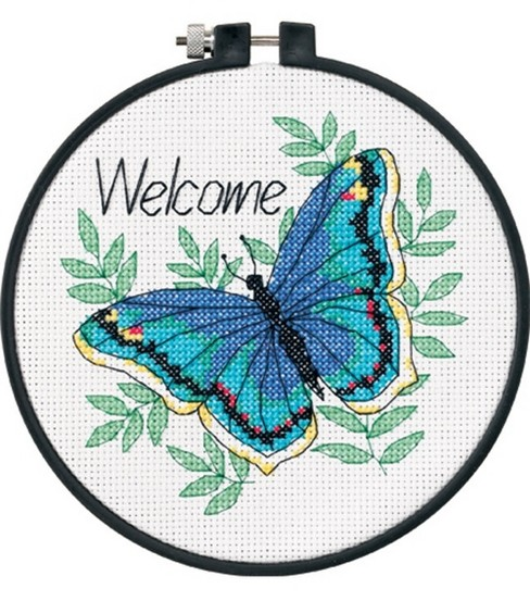 Dimensions Learn-A-Craft Welcome Butterfly Ctd X-Stitch