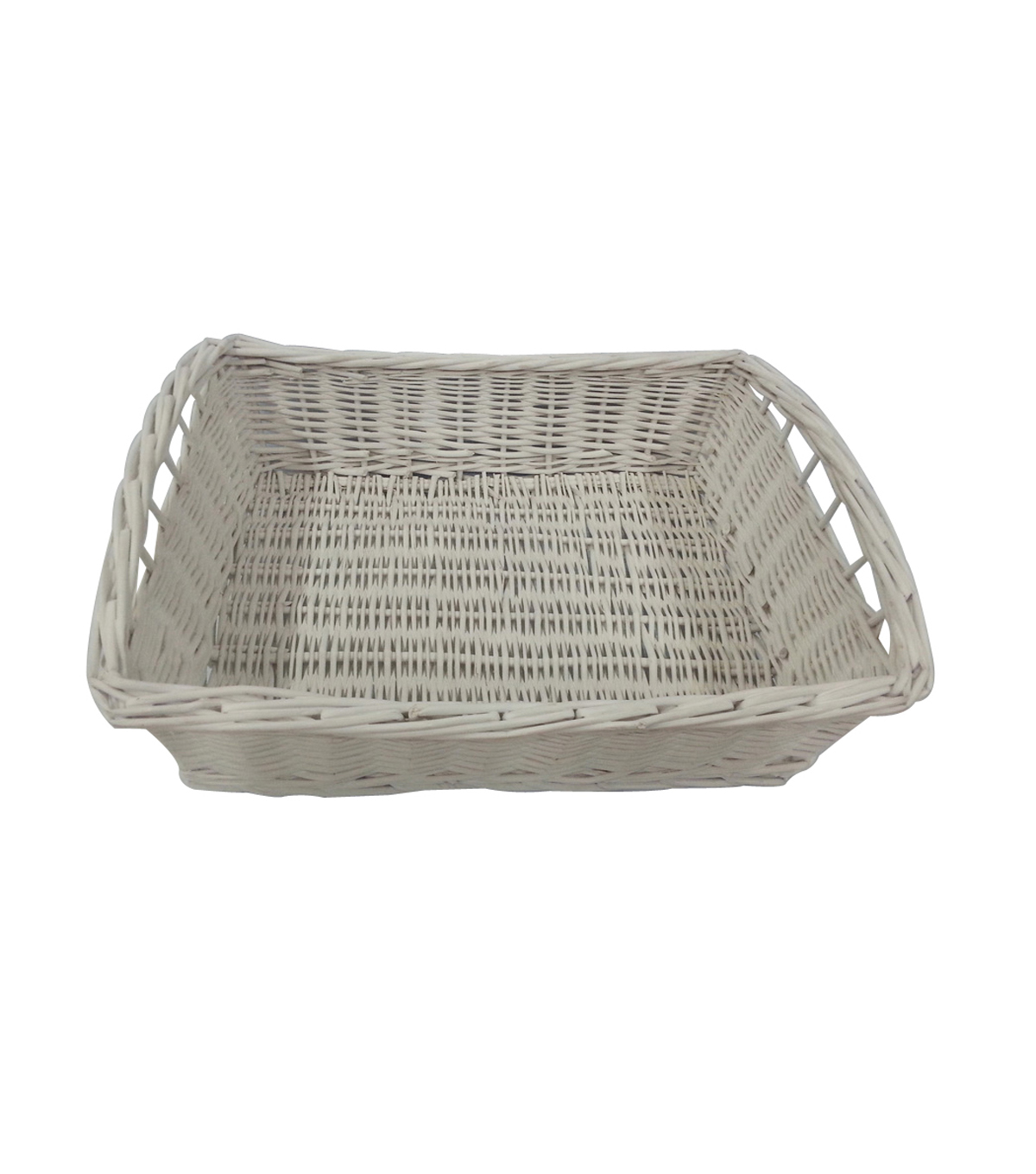 Organizing Essentials™ Willow Tray Basket-White