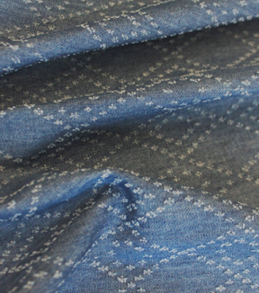 Denim Fabric -  Distressed Blue Denim
