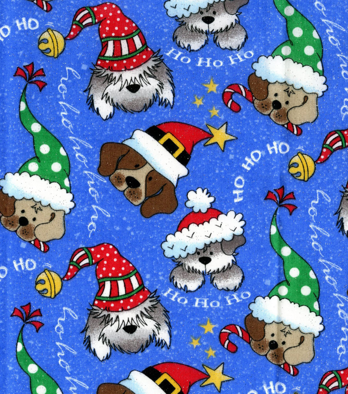 Keepsake Calico™ Holiday Cotton Fabric 44\u0022-Christmas Dogs Glitter