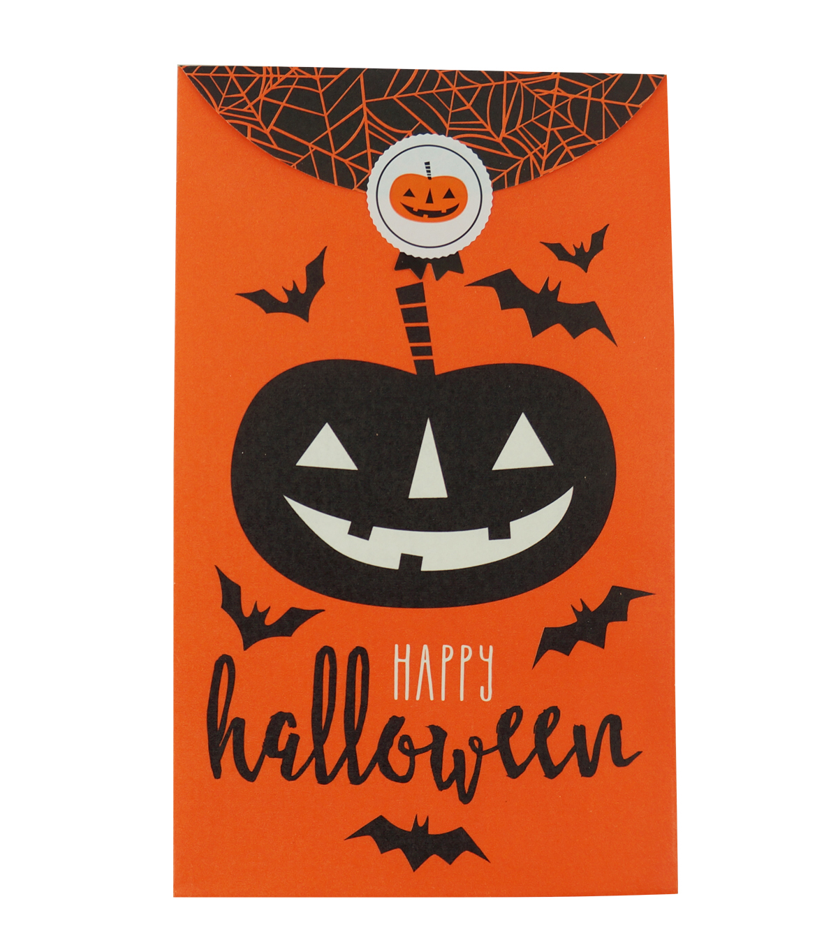 Cheer & Co. Halloween 8 pk 3\u0027\u0027x5\u0027\u0027 Favor Gift Bags with Seals-Pumpkin
