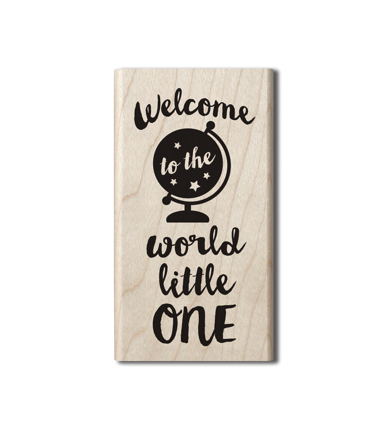 Hampton Art™ Wood Stamp-Welcome To The World
