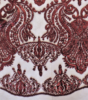 Tapestry Sequin Emb Tawny Port