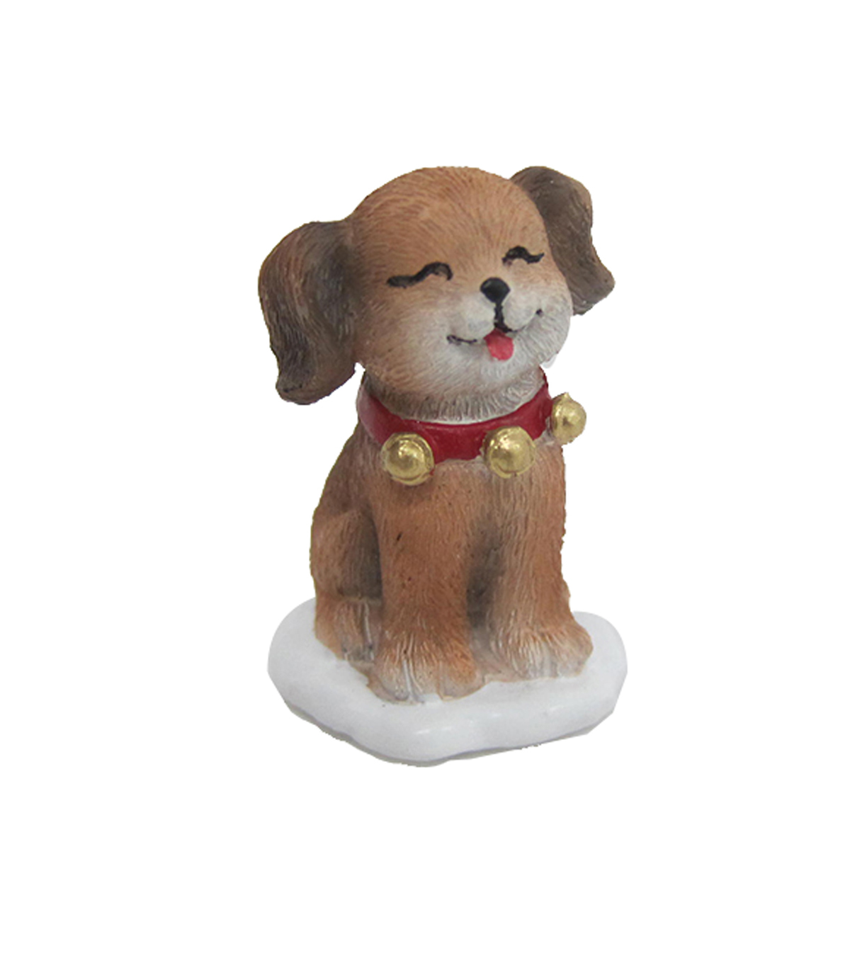 Maker\u0027s Holiday Christmas Littles Resin Puppy