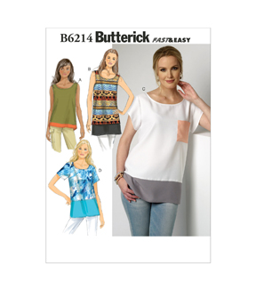 Butterick Misses Top-B6214