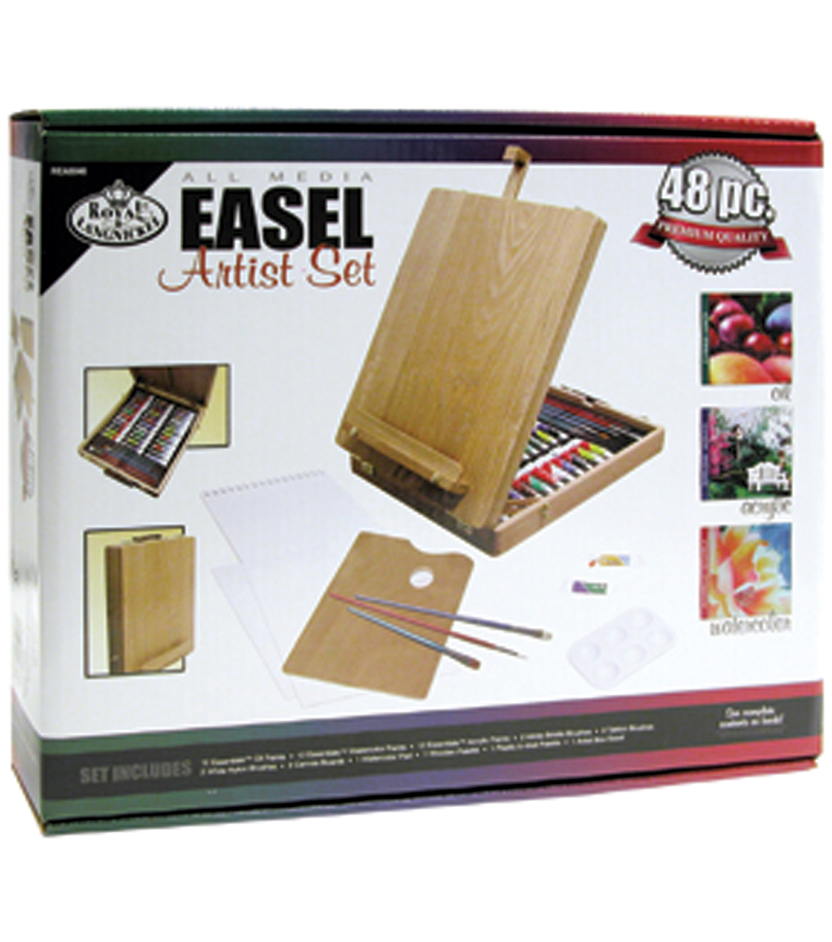 Royal Brush Easel Artist Set-All Media-48 Pieces