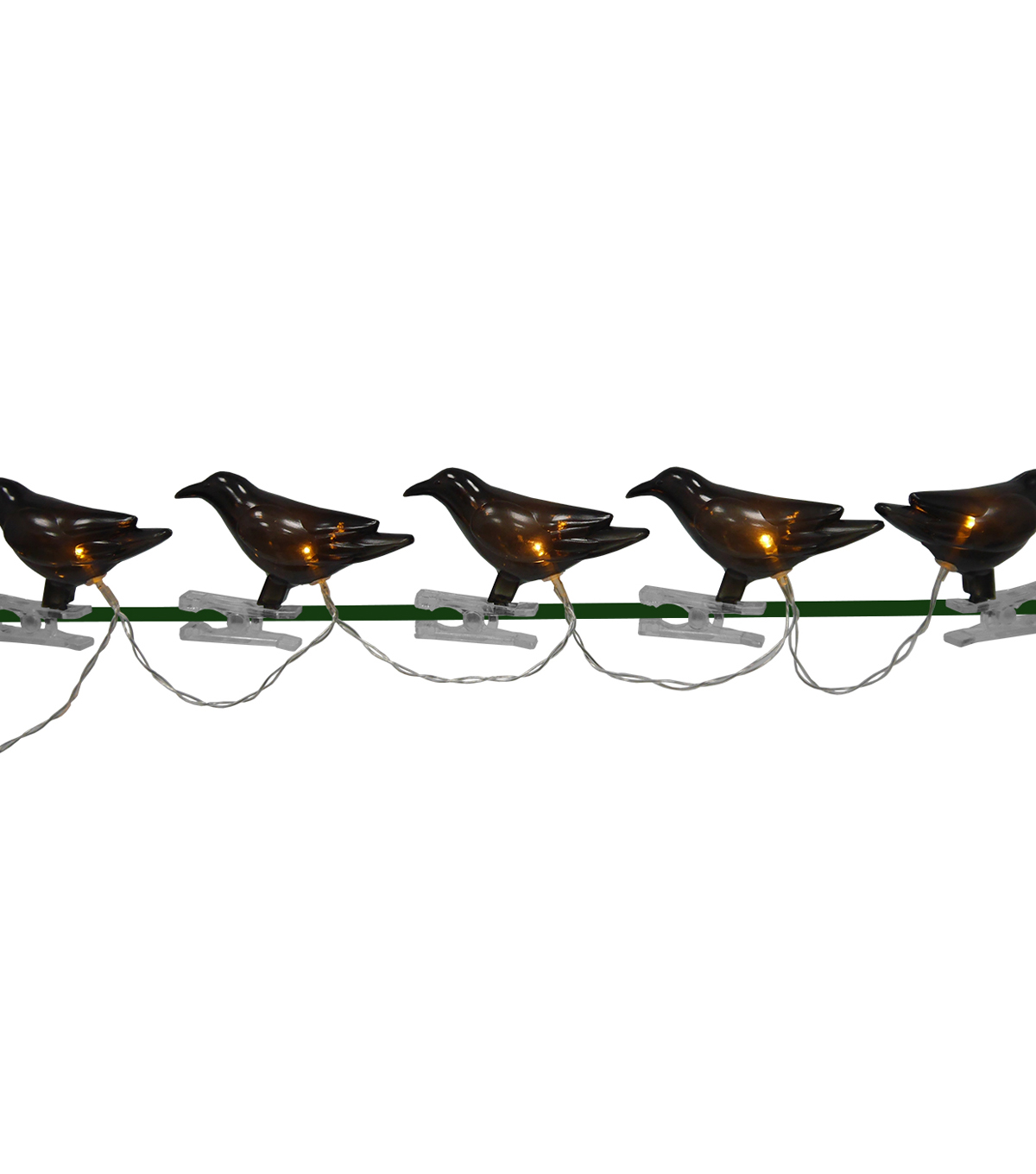 Maker\u0027s Halloween 10 Count 78\u0027\u0027 Plastic Crow String Lights