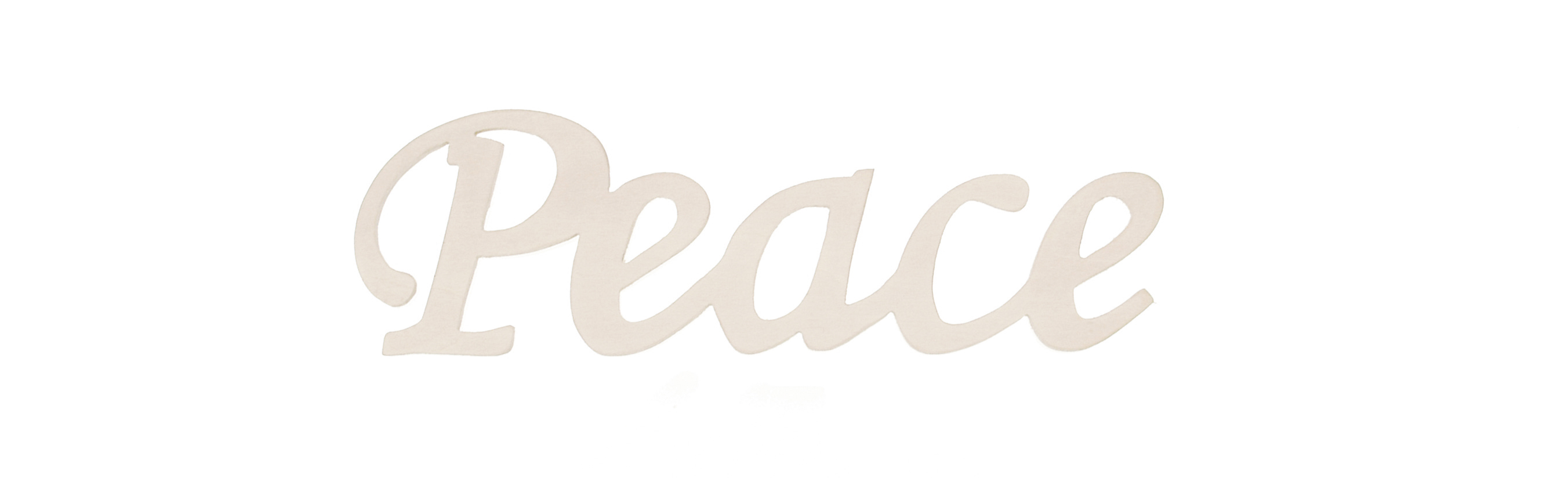 Darice® 7.25\u0027\u0027x2.25\u0027\u0027 Wood Script Word-Peace