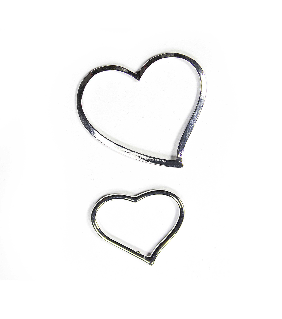 Blue Moon Findings Connector Metal Multi Pack Open Heart Silver