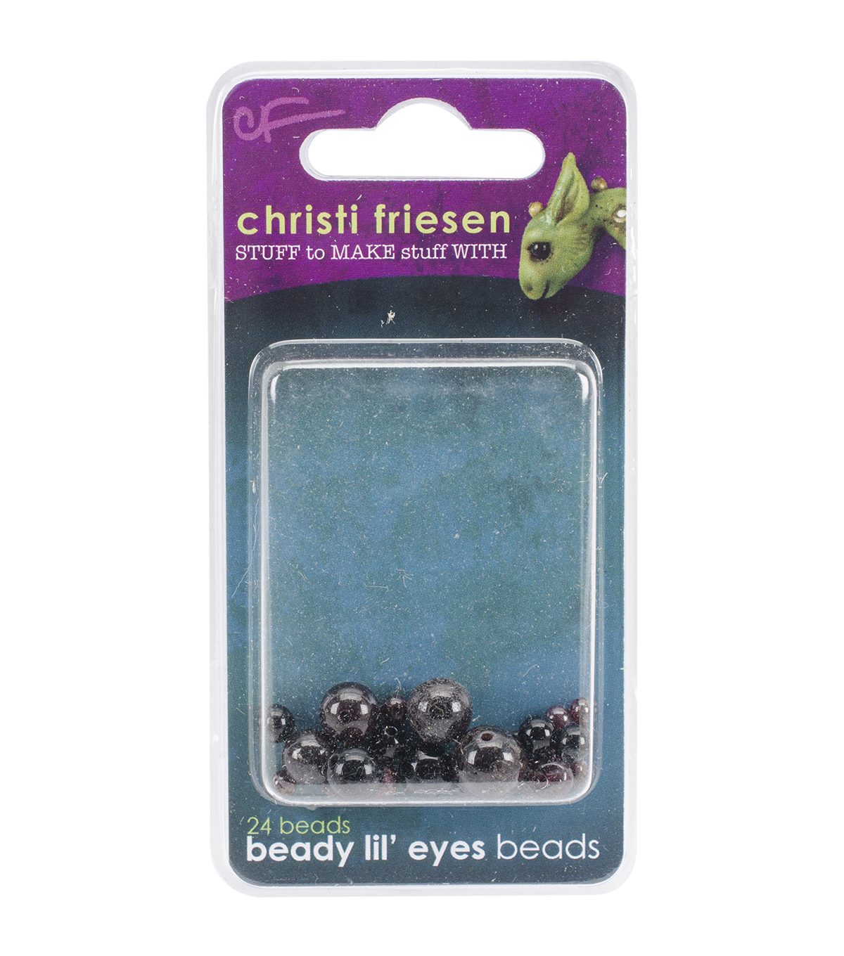 Great Create 24pcs Christi Friesen Beady Lil\u0027 Glass Eyes-Black