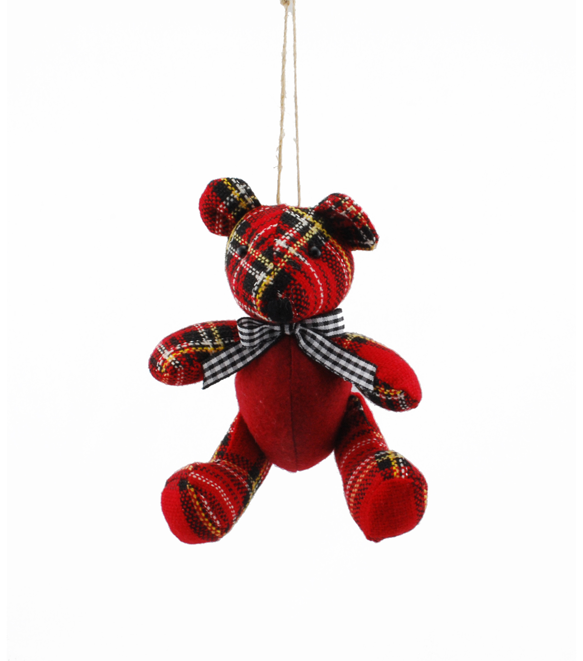 Maker\u0027s Holiday Plaid Bear Ornament