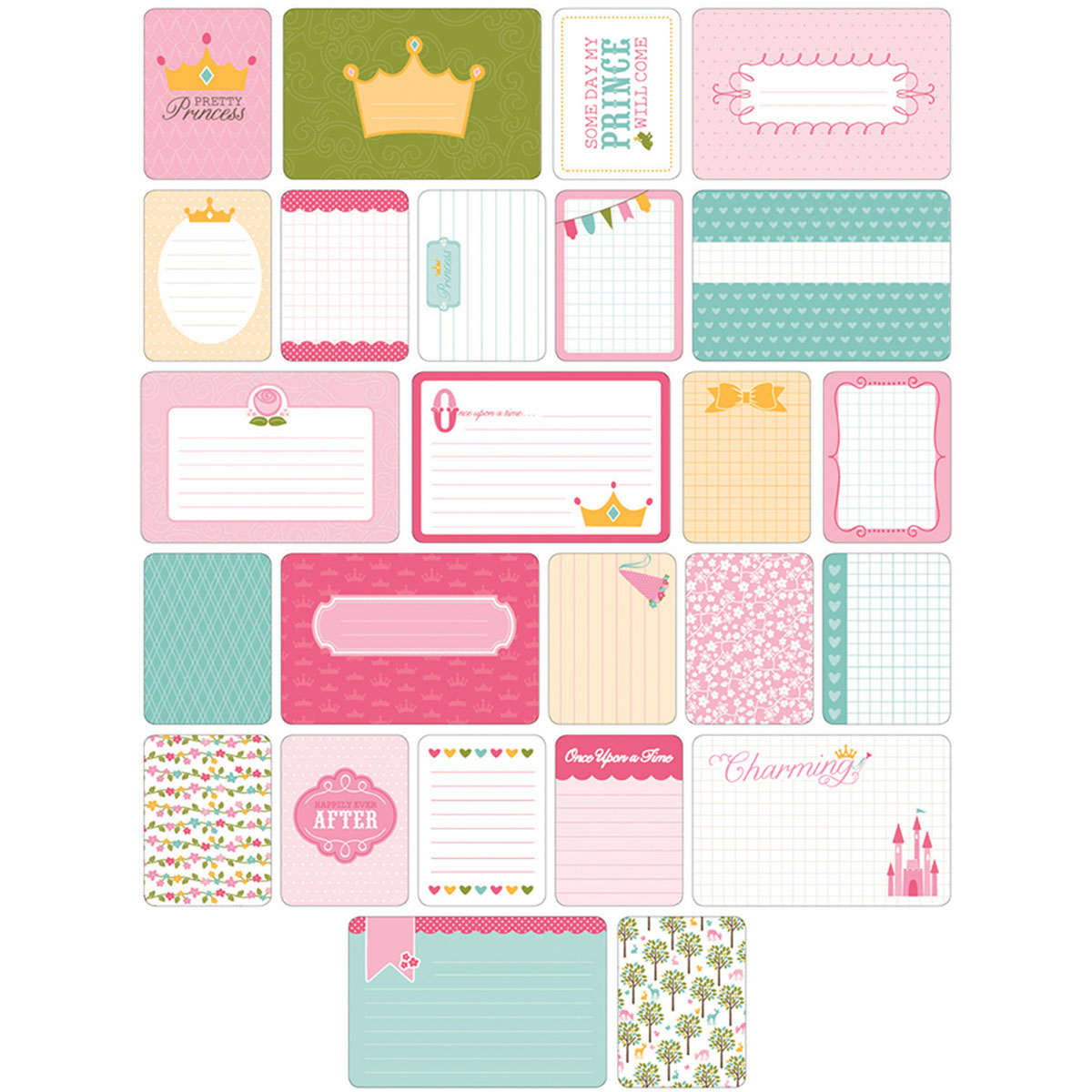 Project Life Themed Cards 40/Pkg-Princess