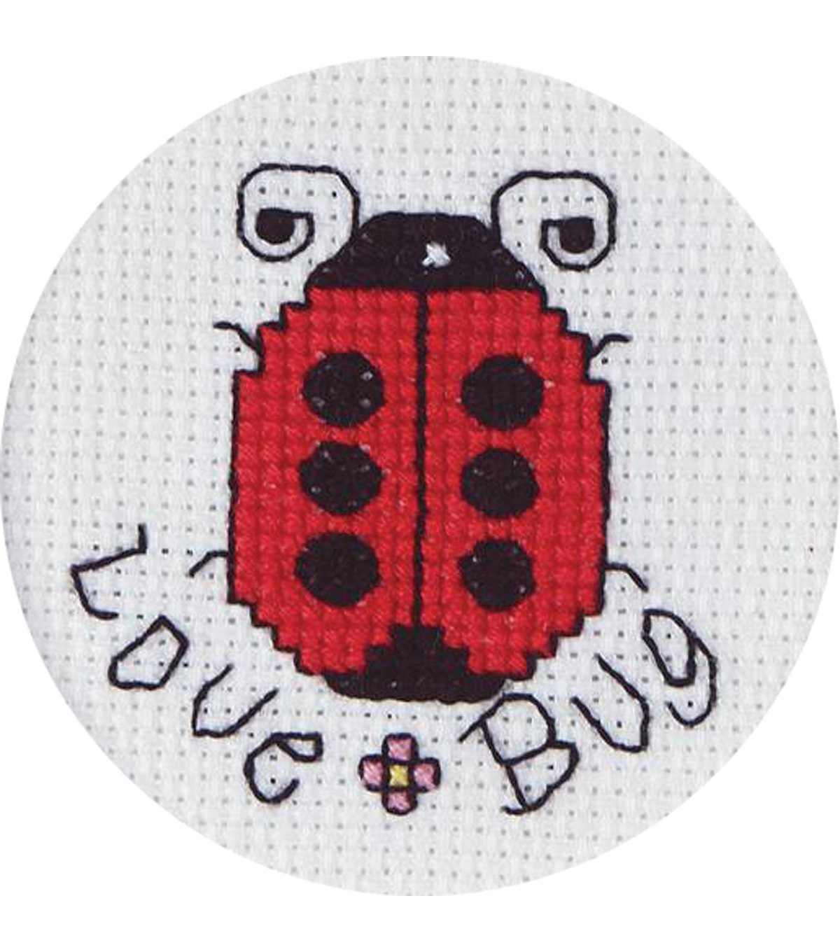 "Janlynn® 2-1/2"" Counted Cross Stitch-Love Bug"