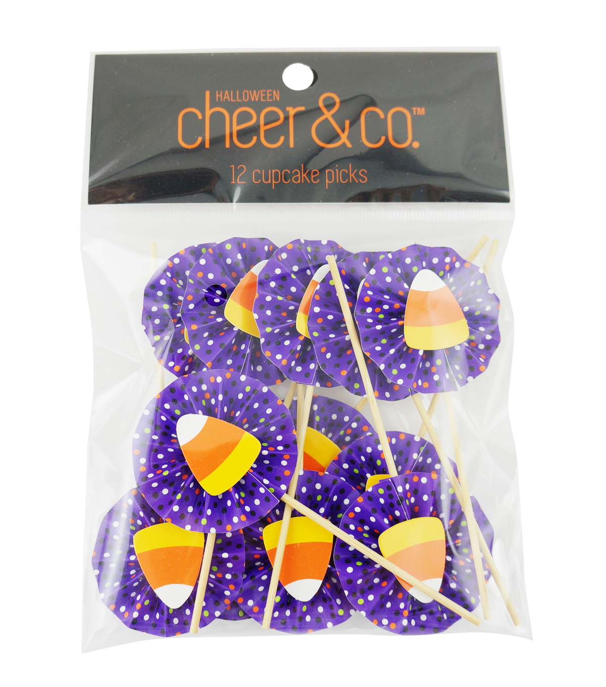 Cheer & Co. Halloween 12 pk Cupcake Picks-Candy Corn