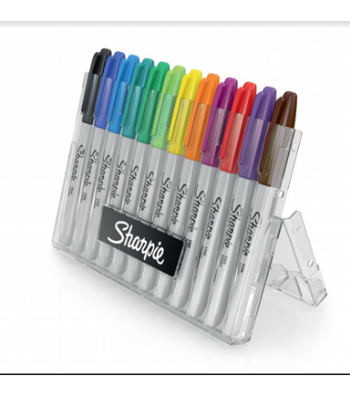 Sharpie Permanent Markers With Case 12 ct-Assorted