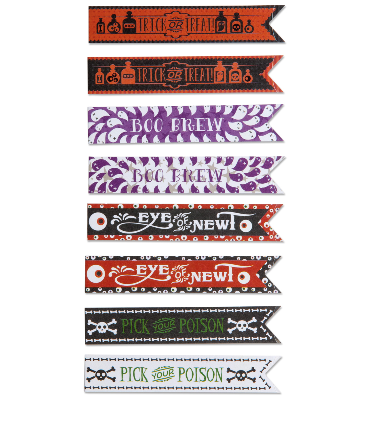 Jolee Boutique Halloween Straw Wraps