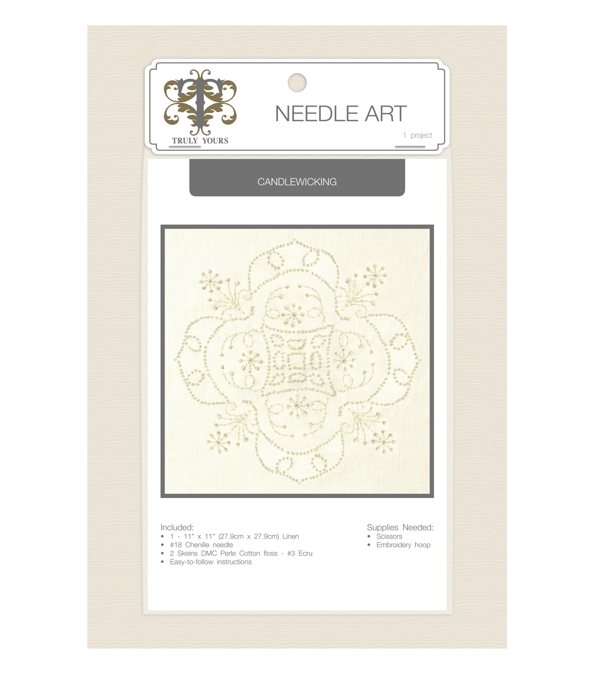 Truly Yours™ Needle Art Candlewicking Stitch Kit- Geo