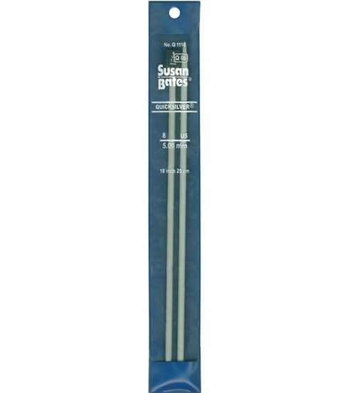 Susan Bates Quicksilver Single Point Knitting Needles 10\u0022-Size 1