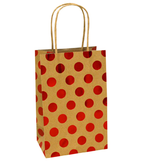 Holiday Cheer Small Bag-Red Dot