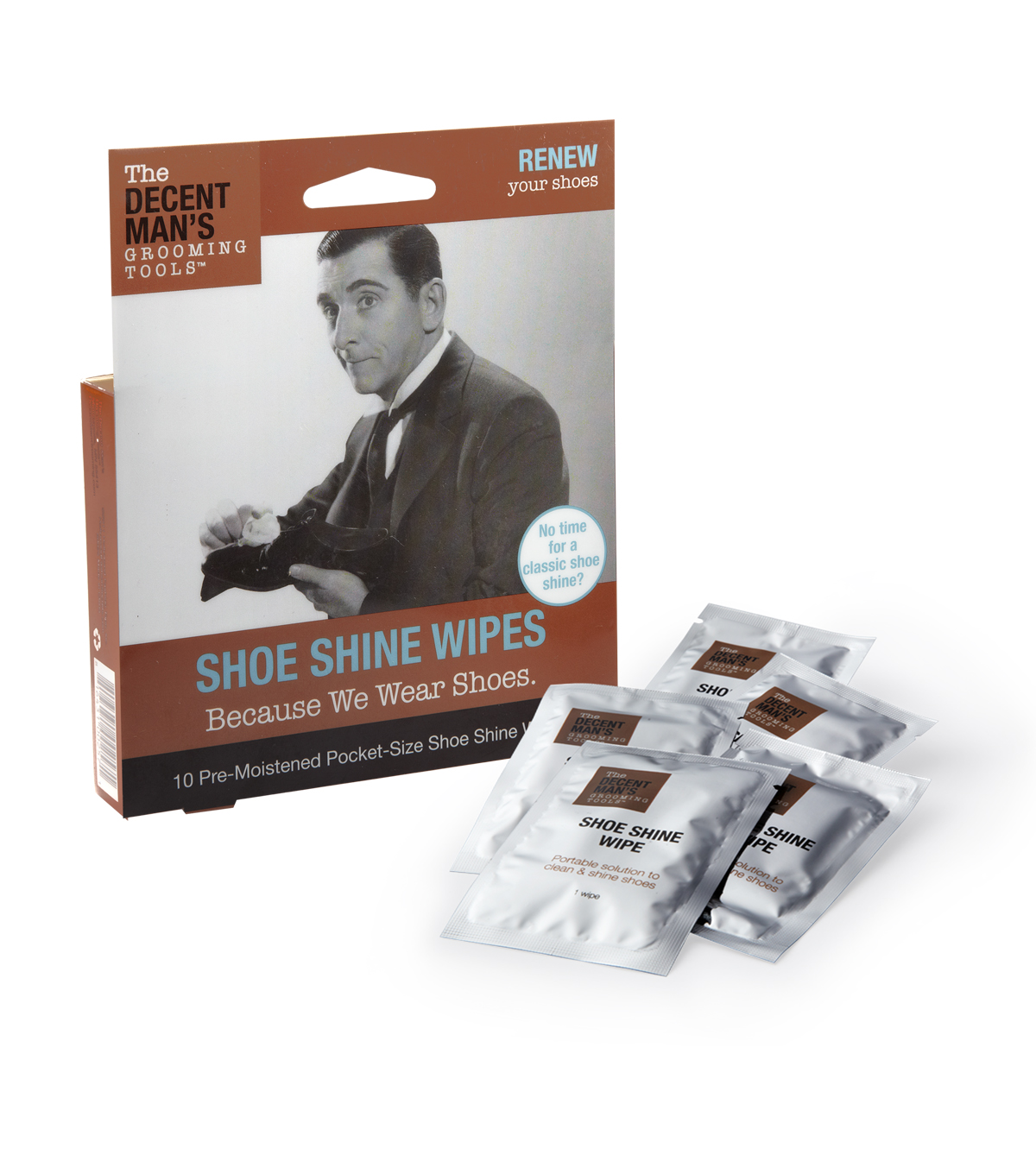 The Decent Man's Grooming Tools-Shoe Shine Wipes