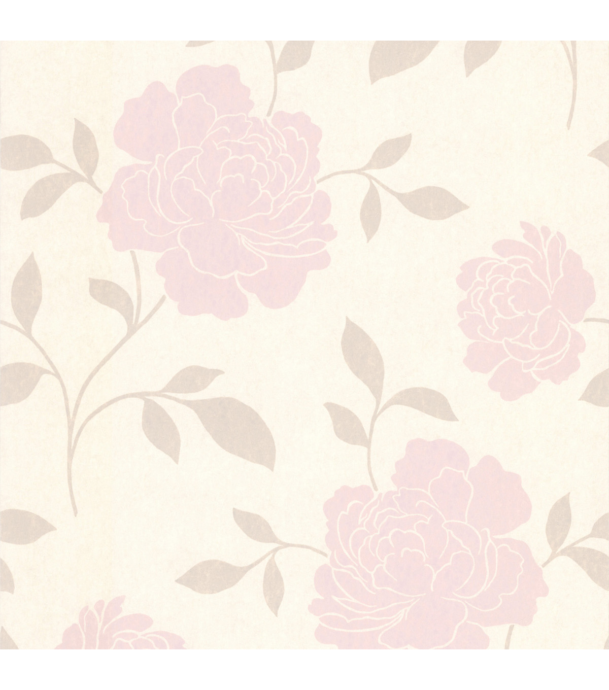 Clara Blush Floral Silhouette Wallpaper Sample