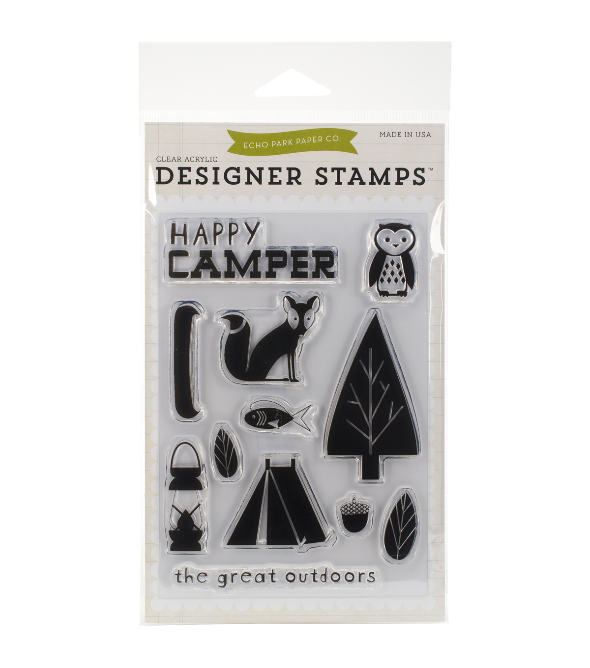 Echo Park Paper Company Happy Camper Stamps 4''x6''