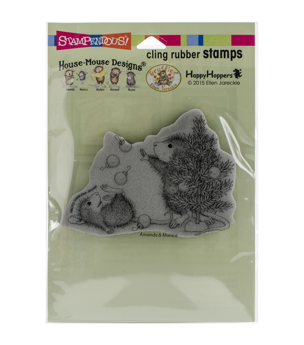 Stampendous® House Mouse Cling Rubber Stamp-Juggling Ornaments