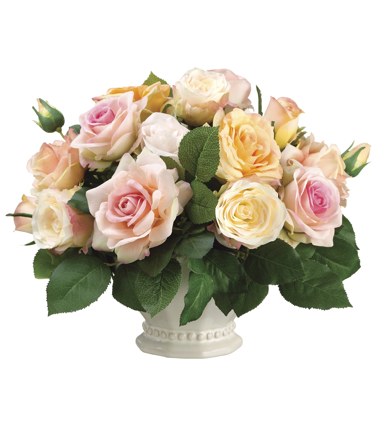Bloom Room Luxe 12'' Rose In Provencal Vase-Pink