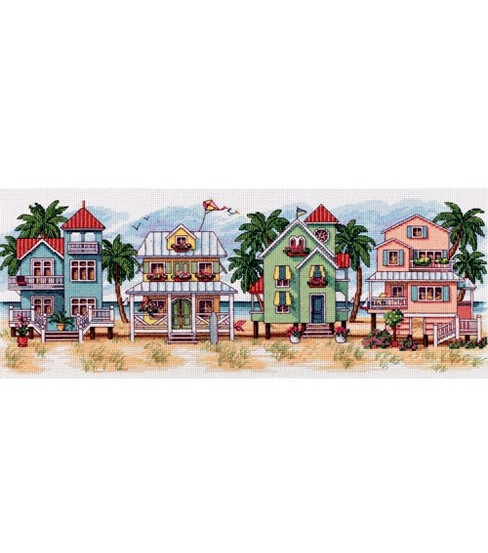 Dimensions Seaside Cottages Counted X-stitch Kit